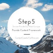 Five Steps to Content Creation Step 5